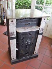 Kamin/Ofenumbau, Art Deco, Marmor/Metall, alt 2 Türen