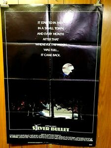 Silver Bullet 1985 Paramount Pictures folded one sheet poster 27x41