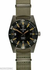 Military Industries 1970s Pattern Automatic 24 Jewel Divers Watch (Grey Strap)