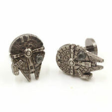 STAR WARS MILLENIUM FALCON PEWTER TONE CUFFLINKS