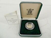 1990 Royal Mint Sterling Silver Piedfort Five Pence 5p Coin 6.5g 18mm A28