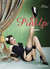 Bas sexy nylon couture 20 den pin-up pour porte-jarretelle KNITTEX MARLENE