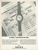 1960s Original Vintage Rolex Oyster Perpetual Watch Print Ad b