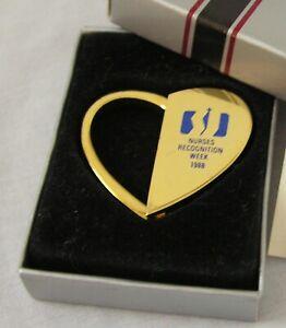 Nurse's Recognition Week Heart Shaped Barlow Key Holder 1988