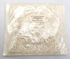 Vintage Nottingham Lace Coasters 4 By Francia Lacecraft Nip