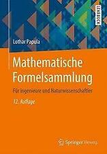Mathematische Formelsammlung von Lothar Papula (Taschenbuch)