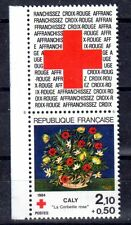 FRANCE TIMBRE CROIX ROUGE AVEC VIGNETTE 2345 ** MNH G CORBEILLE DE CALY - 1984
