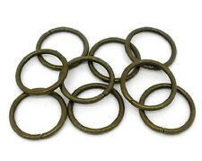 50 Extra Large Open Jump Rings in Antique Bronze Tone - 18mm J07937E