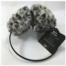 Leopard Print Women's Warm Round Fluffy Faux Fur Earmuffs Ear Warmers Headband