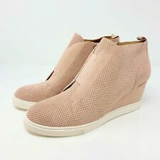 Linea Paolo Wedge Sneaker 9 Pink Felicia Platform Shoes Bootie Suede