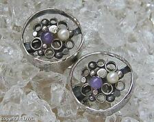 Amethystohrclips Ohrringe mit Amethyst Amethyste in aus 800 Silber Marke Perli