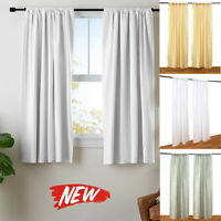 Washable Home Bedroom Darkening Curtain Window Panel Drapes Door Curtain Thin LZ