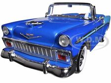 1956 CHEVROLET BEL AIR CONVERTIBLE BLUE 1:18 DIECAST CAR BY ROAD SIGNATURE 92128
