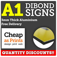 A1 Dibond Sign Boards | 3mm Aluminium Composite | Personalised with Custom Print