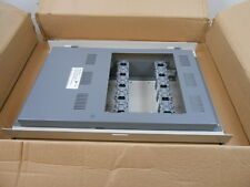 1 NIB EDWARDS 3-CAB5 GRAY CABINET WALLBOX AND DOOR ASSEMBLY W/ 5 LRM SPACES