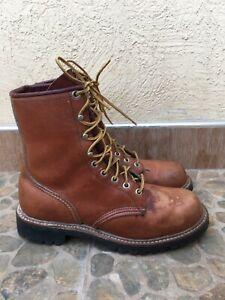 Vintage Irish Setter Red Wing Brown Leather Men's Hunting Boots USA 7.5/ UK 6.5