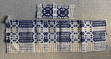 Antique 19th Century American Woven Coverlet Pieces