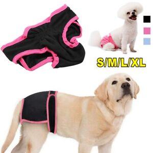 2PCS Female Pet Dog Pants Bitch Heat In Season Menstrual Sanitary Nappy Diaper