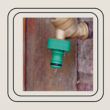 """Threaded Outside Tap Connector 3/4"""" Reducer Snap Action 1/2"""" Hose Pipe Fitting"""