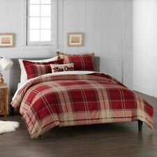 Cuddl Duds Home Red Plaid Flannel Comforter Set - 4-piece - Full/Queen