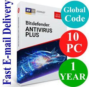 Bitdefender Antivirus Plus 10 PC / 1 Year (Unique Global Activation Code) 2021