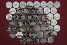 50 Clad State Quarters Set 1999-2008 Gem Proof Deep Cameo Includes All 50 States