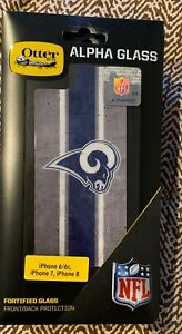 OtterBox ALPHA GLASS NFL Rams Screen Protector for iPhone 7 / 8 / 6s / 6