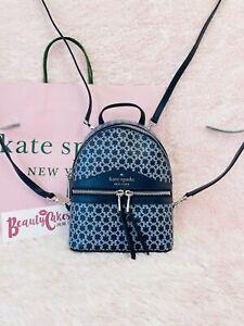 ❇️ Authentic Kate Spade Link Mini Convertible Backpack Crossbody Bag Blue Multi