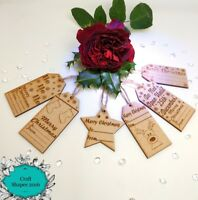 10 x Wooden Christmas Gift Tags, Christmas Labels,Gift Labels, Luxury tags
