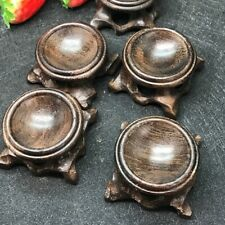 Black Branch Wood Display Stand Base For Crystal Ball Sphere Globe Stone Decor