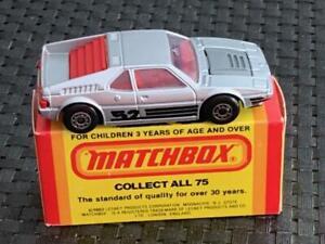 Matchbox (Lesney) #52 B.M.W. M.1., Silver/Red Int. NEW w/Orig. Box Vintage 1981