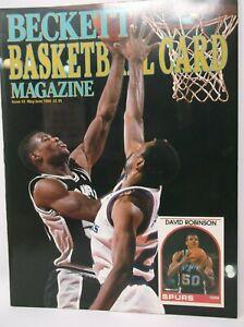 Beckett Basketball Card Magazine May June 1990 DAVID ROBINSON Cover