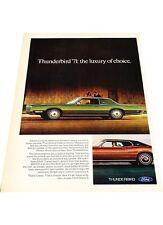 1971 Ford Thunderbird -  Vintage Advertisement Car Print Ad J418 1972