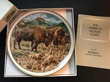 Nib Vintage Lenox American Wildlife Buffalo Collector Plate by Norman Adams