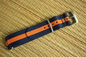 20MM NYLON RACER DIVER YACHT AVIATOR SILVER BUCKLE WATCH BAND STRAP FOR OMEGA 06