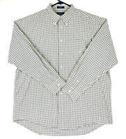 Nautica Men's Size XL Yellow Blue Check Long Sleeve Button Up Business Shirt