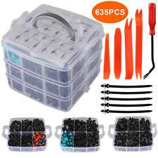 635Pcs Car Body Plastic Auto Fasteners Push Trim Clips Pin Rivet Bumper Kit
