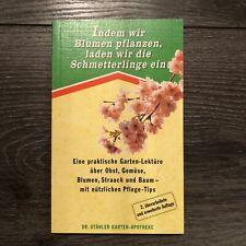 DR. STÄHLER GARTEN-APOTHEKE * Garten-Lektüre Obst, Gemüse, Blumen, Strauch, Baum