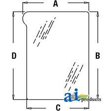 John Deere Parts GLASSLOWER LH WINDSHIELD  L151752 7530E PREMIUM (European),7530
