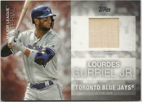 2020 Topps Series 1 LOURDES GURRIEL JR Major League Material Relic Blue Jays Bat