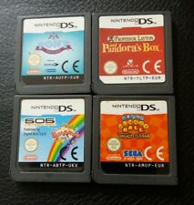4 NINTENDO DS GAMES PANDORAS BOX PONY FRIENDS MONKEY BALL BUST A MOVE GAME ONLY