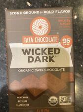 Taza Chocolate Organic Amaze Bar, Wicked Dark, 2.5 OZ (Pack of 5)