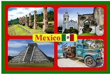MEXICO - SOUVENIR NOVELTY FRIDGE MAGNET - SIGHTS & FLAG - BRAND NEW - GIFT