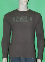RG512 Men's 100% Cotton Brown Long Sleeve Thermal Shirt W27189 Sz L NEW