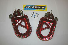 Trials Footrests- RED COLD FORGED ALUMINIUM by APICO RACING GAS GAS/BETA/JTS +