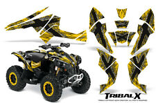 Can-Am Renegade Graphics Kit by CreatorX Decals Stickers TRIBALX SILVER YELLOW