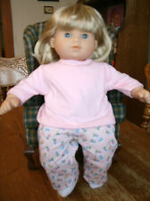 Handmade Bitty Baby Girl pink floral sweatpants/pink tee/socks 810