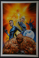 Fantastic Four Michael Turner Aspen Art Print