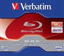 3 Verbatim Blu-ray BD-RE DL 50GB 1-2x / Jewelcase Dual Layer wiederbeschreibbar