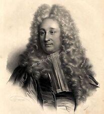 Grand Portrait Henri François d'Aguessau Lithographie In Folio Originale XIXème